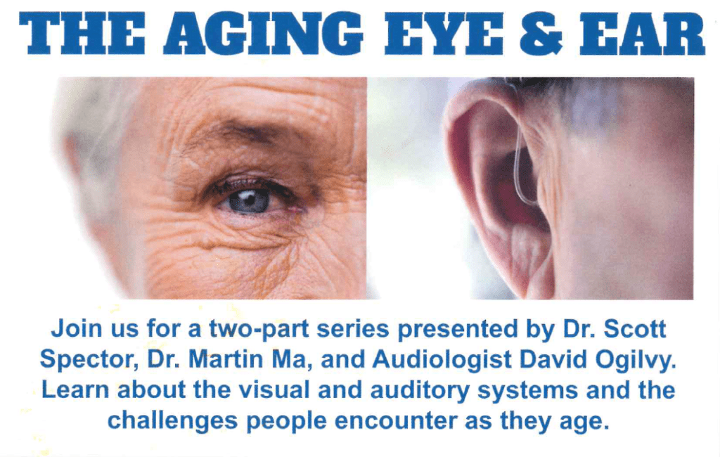aging eyes and ears